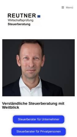 Vorschau der mobilen Webseite www.reutaxes.de, Dipl.-Kfm. Stephan Reutner