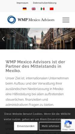 Vorschau der mobilen Webseite wmp.mx, WMP Mexico Advisors