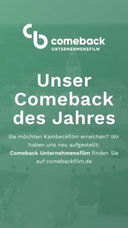 Vorschau der mobilen Webseite www.kambeckfilm.de, kambeckfilm GmbH