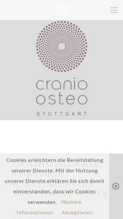 Vorschau der mobilen Webseite osteo-stuttgart.com, Osteo Stuttgart