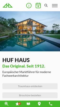 Vorschau der mobilen Webseite www.huf-haus.com, HUF HAUS GmbH & Co. KG