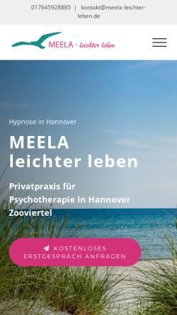 Vorschau der mobilen Webseite www.meela-leichter-leben.de, MEELA - leichter leben