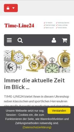 Vorschau der mobilen Webseite www.time-line24.de, Time-Line24.de