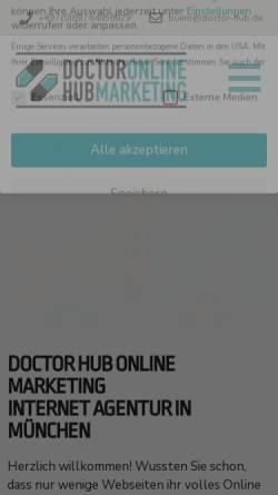 Vorschau der mobilen Webseite doctor-hub.de, DOCTOR HUB