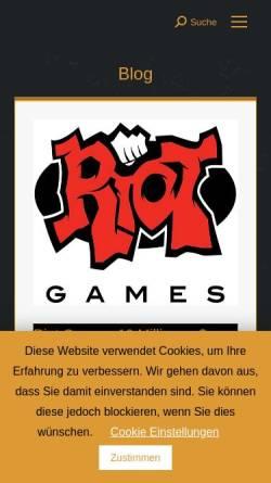 Vorschau der mobilen Webseite zockertainment.de, Zockertainment