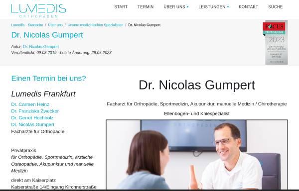 Vorschau von www.lumedis.de, Dr. Nicolas Gumpert