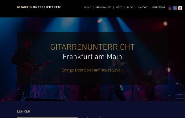 Vorschau von www.gitarrenunterricht-ffm.com, Gitarrenunterricht-Ffm