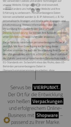 Vorschau der mobilen Webseite www.vierpunkt.de, VIERPUNKT GmbH