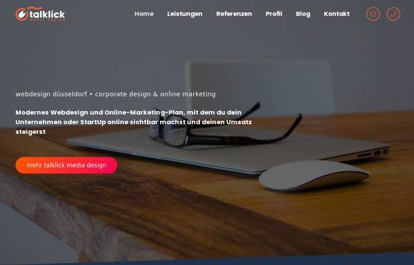 Vorschau von talklick.de, talklick web & graphic design