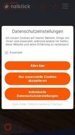 Vorschau der mobilen Webseite talklick.de, talklick web & graphic design