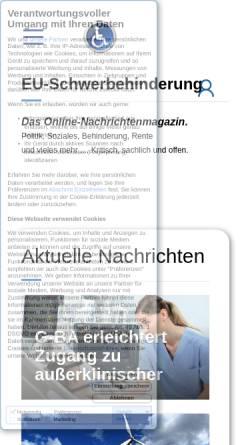 Vorschau der mobilen Webseite eu-schwerbehinderung.eu, EU-Schwerbehinderung