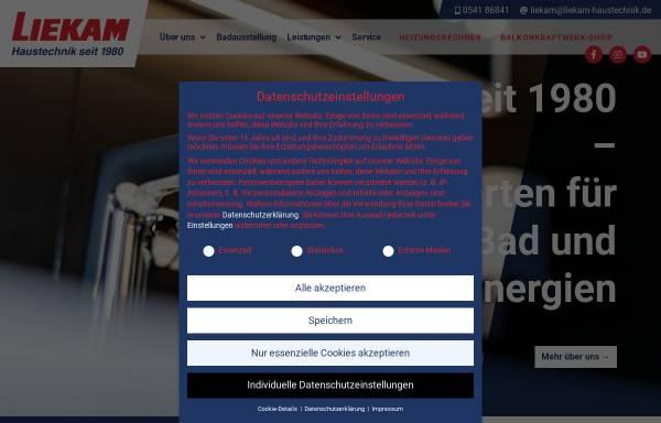Vorschau von www.liekam-haustechnik.de, Liekam Haustechnik GmbH