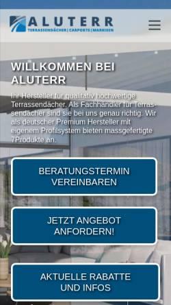 Vorschau der mobilen Webseite aluterr.de, Aluterr GmbH