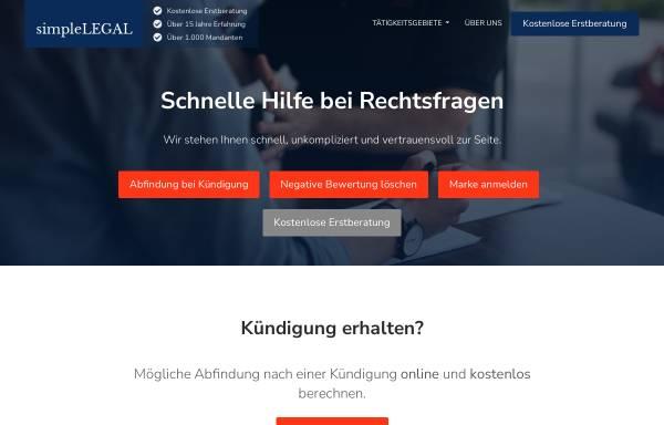 Vorschau von simplelegal.de, simpleLEGAL