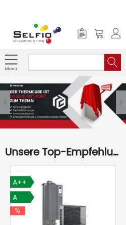 Vorschau der mobilen Webseite www.selfio.de, Selfio GmbH