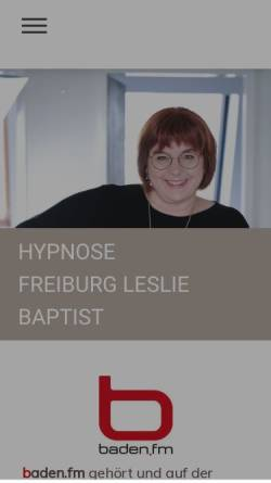 Vorschau der mobilen Webseite www.hypnose-baptist.de, MasterCoach-Hypnose