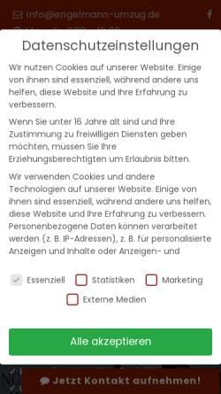 Vorschau der mobilen Webseite www.engelmann-umzug.de, Engelmann Umzüge