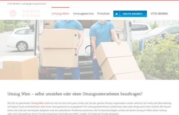 Vorschau von www.umzugvienna.at, Umzug Vienna