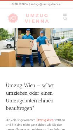 Vorschau der mobilen Webseite www.umzugvienna.at, Umzug Vienna