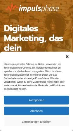 Vorschau der mobilen Webseite www.impulsphase.de, Impulsphase