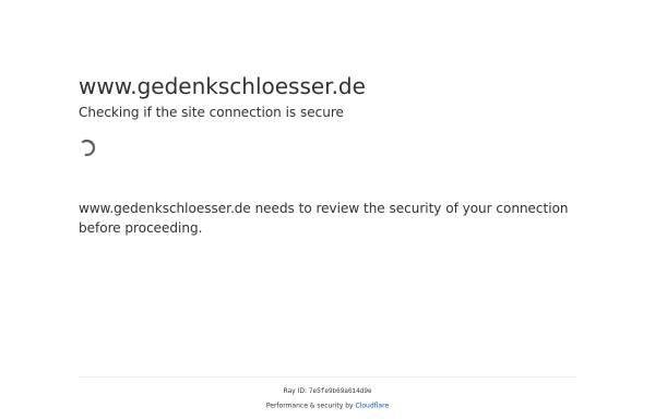 Vorschau von www.gedenkschloesser.de, Olaf Erdmann Gedenkschlösser