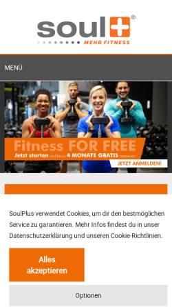 Vorschau der mobilen Webseite www.soulplus.de, SoulPlus GmbH