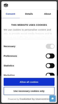 Vorschau der mobilen Webseite www.universal-robots.com, Universal Robots