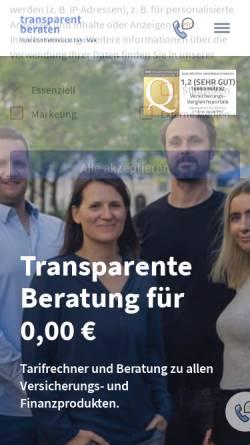 Vorschau der mobilen Webseite www.transparent-beraten.de, transparent-beraten.de GmbH