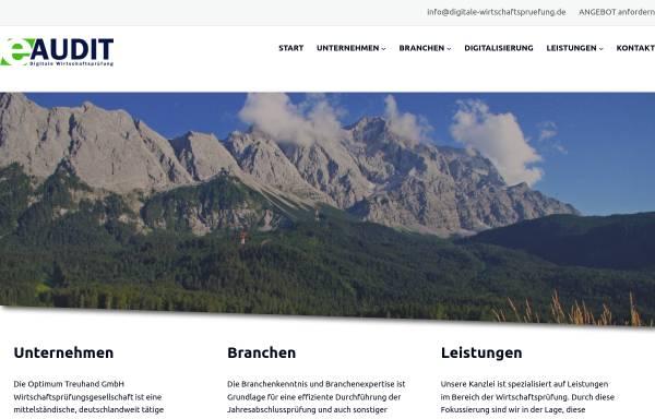 Vorschau von www.digitale-wirtschaftspruefung.de, Optimum Treuhand GmbH