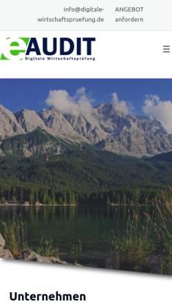 Vorschau der mobilen Webseite www.digitale-wirtschaftspruefung.de, Optimum Treuhand GmbH