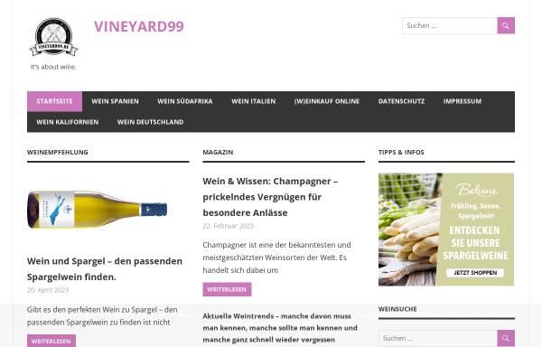 Vorschau von www.vineyard99.de, Vineyard 99