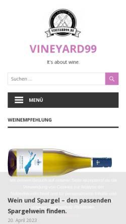 Vorschau der mobilen Webseite www.vineyard99.de, Vineyard 99