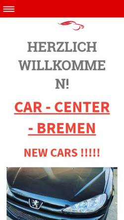 Vorschau der mobilen Webseite www.car-center-bremen.de, Car - Center - Bremen