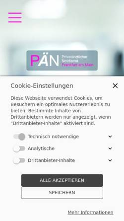Vorschau der mobilen Webseite www.privataerztlicher-notdienst-frankfurt.de, Privatärztlicher Notdienst Frankfurt