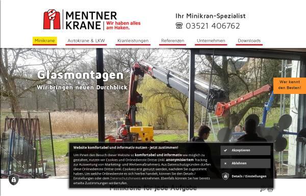 Vorschau von mentner-krane.de, Mentner Krane e. K.