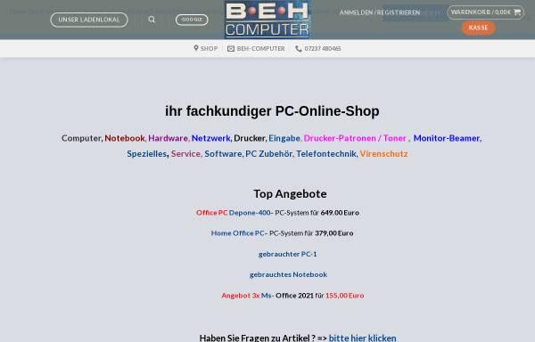 Vorschau von www.beh-computer.com, BeH-Computer