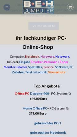 Vorschau der mobilen Webseite www.beh-computer.com, BeH-Computer