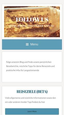 Vorschau der mobilen Webseite youfollowus.com, youfollowus