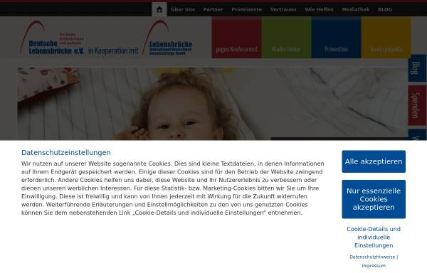 Vorschau von www.lebensbruecke.de, Kinderhilfe Deutsche Lebensbrücke e.V. München