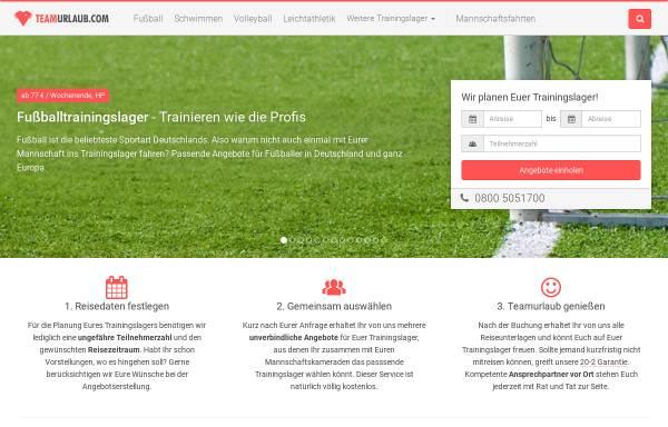 Vorschau von www.teamurlaub.com, Teamurlaub - GR GmbH