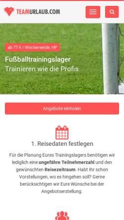 Vorschau der mobilen Webseite www.teamurlaub.com, Teamurlaub - GR GmbH