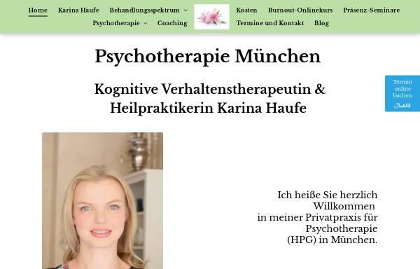 Vorschau von www.privatpraxis-haufe.de, Privatpraxis für Psychotherapie Haufe