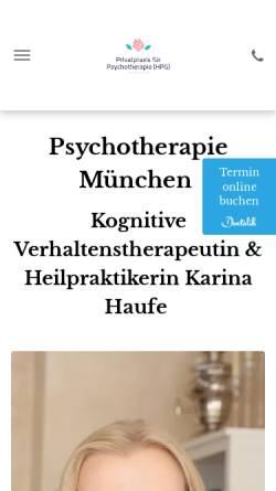 Vorschau der mobilen Webseite www.privatpraxis-haufe.de, Privatpraxis für Psychotherapie Haufe