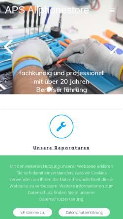 Vorschau der mobilen Webseite www.allphonestore.de, APS AllPhoneStore