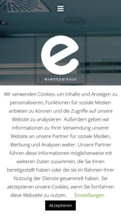 Vorschau der mobilen Webseite eventparkour.de, Eventparkour