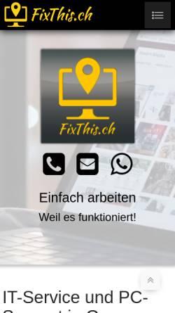 Vorschau der mobilen Webseite fixthis.ch, FixThis.ch
