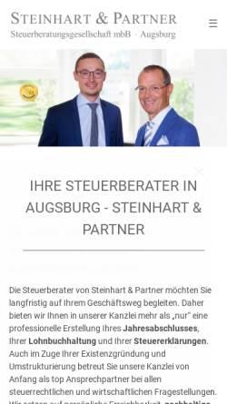 Vorschau der mobilen Webseite steinhart-partner.de, Steinhart & Partner Steuerberatungsgesellschaft mbB