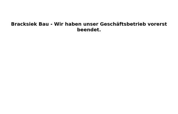 Vorschau von bracksiek-bau.de, Bracksiek Bau