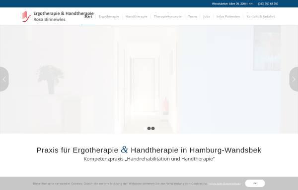 Vorschau von www.ergotherapie-binnewies.de, Ergotherapie Rosa Binnewies