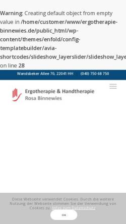 Vorschau der mobilen Webseite www.ergotherapie-binnewies.de, Ergotherapie Rosa Binnewies